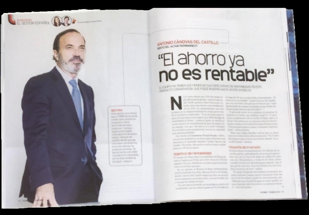 Antonio Cánovas del Castillo en Funds People