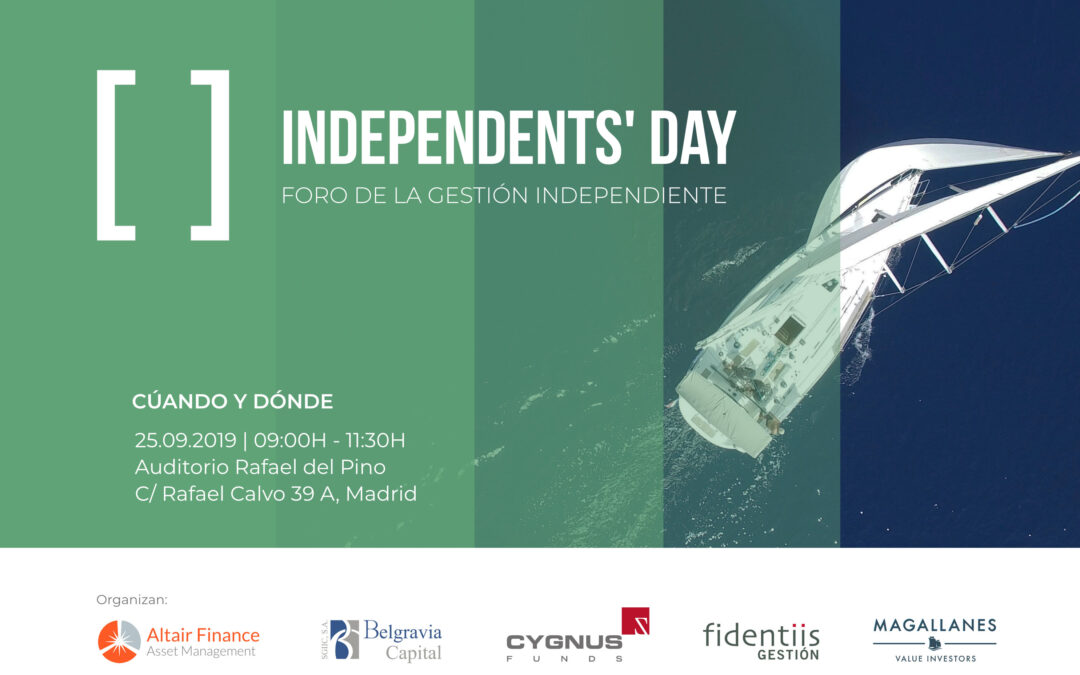 Altair Finance AM coorganiza el Independents' Day: foro de la gestión indepediente
