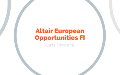 Carta Trimestral del fondo Altair European Opportunities 2T2020
